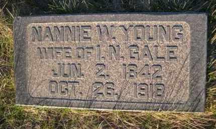 YOUNG GALE, NANNIE W. - Cherry County, Nebraska   NANNIE W. YOUNG GALE - Nebraska Gravestone Photos