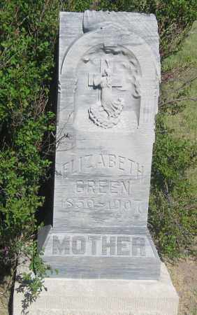 GREEN, ELIZABETH - Cherry County, Nebraska | ELIZABETH GREEN - Nebraska Gravestone Photos