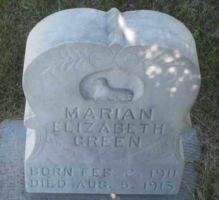 GREEN, MARIAN  ELIZABETH - Cherry County, Nebraska | MARIAN  ELIZABETH GREEN - Nebraska Gravestone Photos