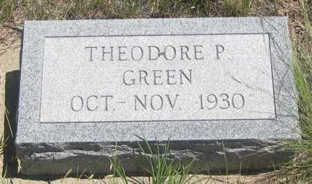 GREEN, THEODORE  P.  JR. - Cherry County, Nebraska | THEODORE  P.  JR. GREEN - Nebraska Gravestone Photos
