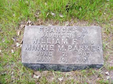 PARKER, FRANCES M. - Cherry County, Nebraska | FRANCES M. PARKER - Nebraska Gravestone Photos