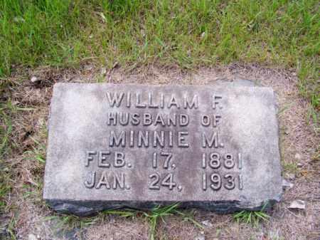 PARKER, WILLIAM F. - Cherry County, Nebraska   WILLIAM F. PARKER - Nebraska Gravestone Photos