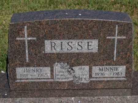RISSE, HENRY - Cherry County, Nebraska | HENRY RISSE - Nebraska Gravestone Photos