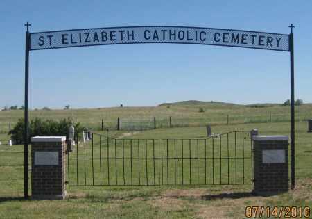 *ST. ELIZABETH CATHOLIC CEMETE, FRONT GATE - Cherry County, Nebraska | FRONT GATE *ST. ELIZABETH CATHOLIC CEMETE - Nebraska Gravestone Photos