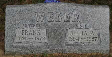 WEBER, FRANK - Cherry County, Nebraska | FRANK WEBER - Nebraska Gravestone Photos