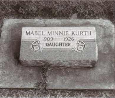 KURTH, MABEL MINNIE - Cheyenne County, Nebraska | MABEL MINNIE KURTH - Nebraska Gravestone Photos