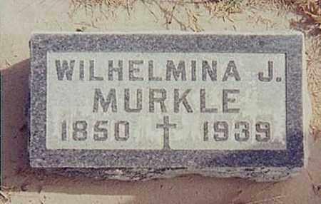 MURKLE, WILHELMINA J - Cheyenne County, Nebraska | WILHELMINA J MURKLE - Nebraska Gravestone Photos