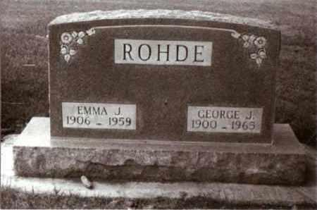 ROHDE, EMMA - Cheyenne County, Nebraska | EMMA ROHDE - Nebraska Gravestone Photos