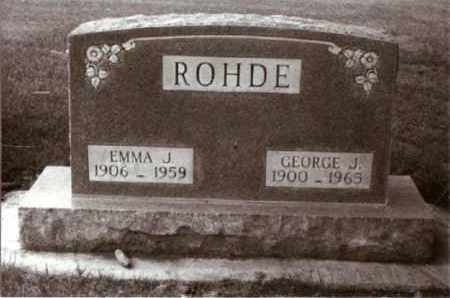 ROHDE, GEORGE - Cheyenne County, Nebraska | GEORGE ROHDE - Nebraska Gravestone Photos