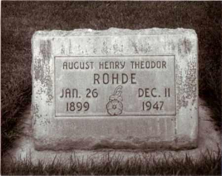 ROHDE, HENRY - Cheyenne County, Nebraska | HENRY ROHDE - Nebraska Gravestone Photos