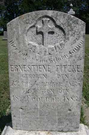 FITZKE, ERNESTIENE - Clay County, Nebraska | ERNESTIENE FITZKE - Nebraska Gravestone Photos