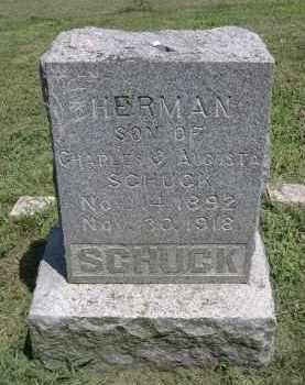 SCHUCK, HERMAN - Clay County, Nebraska | HERMAN SCHUCK - Nebraska Gravestone Photos