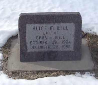 MYER WILL, ALICE - Clay County, Nebraska | ALICE MYER WILL - Nebraska Gravestone Photos