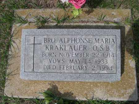 KRAKLAUER, ALPHONSE MARIA - Colfax County, Nebraska | ALPHONSE MARIA KRAKLAUER - Nebraska Gravestone Photos