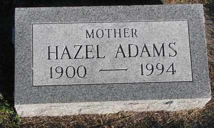 ADAMS, HAZEL - Cuming County, Nebraska   HAZEL ADAMS - Nebraska Gravestone Photos