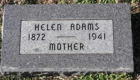 ADAMS, HELEN - Cuming County, Nebraska | HELEN ADAMS - Nebraska Gravestone Photos