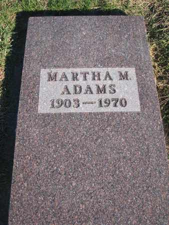 ADAMS, MARTHA M. - Cuming County, Nebraska | MARTHA M. ADAMS - Nebraska Gravestone Photos