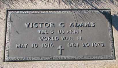ADAMS, VICTOR G. - Cuming County, Nebraska   VICTOR G. ADAMS - Nebraska Gravestone Photos