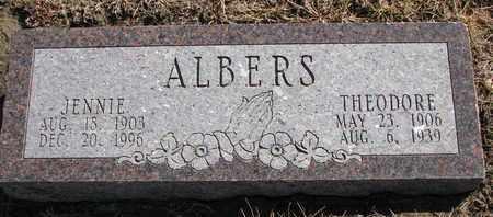 ALBERS, THEODORE - Cuming County, Nebraska   THEODORE ALBERS - Nebraska Gravestone Photos