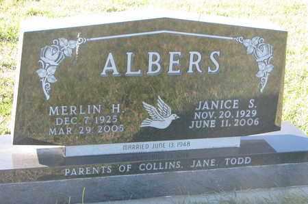 ALBERS, MERLIN H. - Cuming County, Nebraska | MERLIN H. ALBERS - Nebraska Gravestone Photos