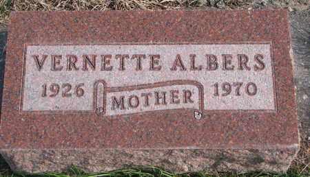ALBERS, VERNETTE - Cuming County, Nebraska | VERNETTE ALBERS - Nebraska Gravestone Photos