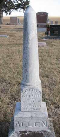 ALLEN, WILFRED - Cuming County, Nebraska | WILFRED ALLEN - Nebraska Gravestone Photos