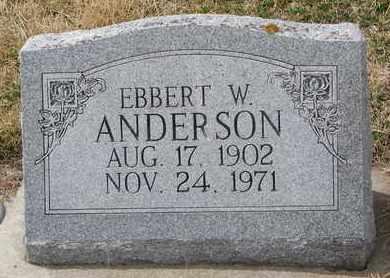 ANDERSON, EBBERT W. - Cuming County, Nebraska | EBBERT W. ANDERSON - Nebraska Gravestone Photos