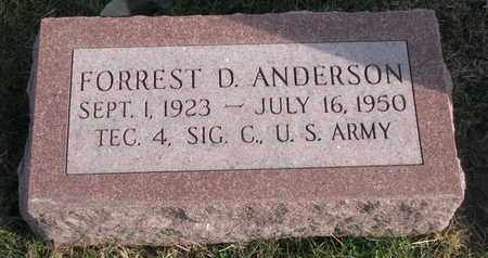ANDERSON, FORREST D. - Cuming County, Nebraska   FORREST D. ANDERSON - Nebraska Gravestone Photos