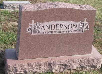 ANDERSON, (FAMILY MONUMENT) - Cuming County, Nebraska   (FAMILY MONUMENT) ANDERSON - Nebraska Gravestone Photos