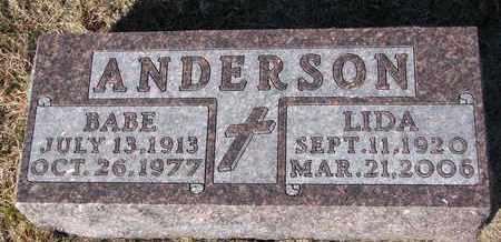 ANDERSON, LIDA - Cuming County, Nebraska   LIDA ANDERSON - Nebraska Gravestone Photos