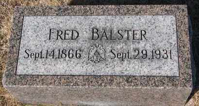 BALSTER, FRED - Cuming County, Nebraska | FRED BALSTER - Nebraska Gravestone Photos