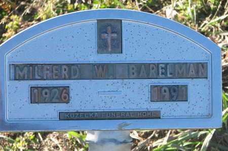 BARELMAN, MILFERD W. - Cuming County, Nebraska | MILFERD W. BARELMAN - Nebraska Gravestone Photos