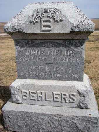 BEHLERS, MARIE E. - Cuming County, Nebraska   MARIE E. BEHLERS - Nebraska Gravestone Photos