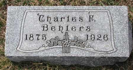 BEHLERS, CHARLES F. - Cuming County, Nebraska | CHARLES F. BEHLERS - Nebraska Gravestone Photos