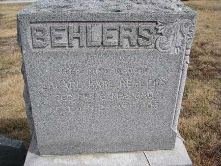BEHLERS, EDUARD KARL - Cuming County, Nebraska   EDUARD KARL BEHLERS - Nebraska Gravestone Photos