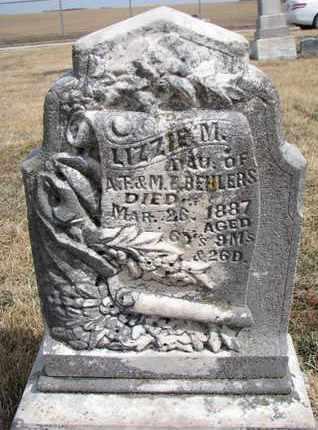 BEHLERS, LIZZIE M. - Cuming County, Nebraska   LIZZIE M. BEHLERS - Nebraska Gravestone Photos