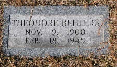BEHLERS, THEODORE - Cuming County, Nebraska | THEODORE BEHLERS - Nebraska Gravestone Photos