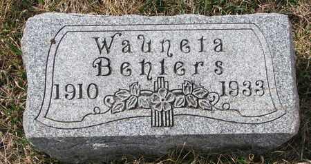 BEHLERS, WAUNETA - Cuming County, Nebraska | WAUNETA BEHLERS - Nebraska Gravestone Photos