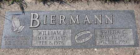 BIERMANN, FRIEDA C. - Cuming County, Nebraska | FRIEDA C. BIERMANN - Nebraska Gravestone Photos