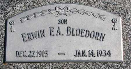 BLOEDORN, ERWIN F.A. - Cuming County, Nebraska | ERWIN F.A. BLOEDORN - Nebraska Gravestone Photos
