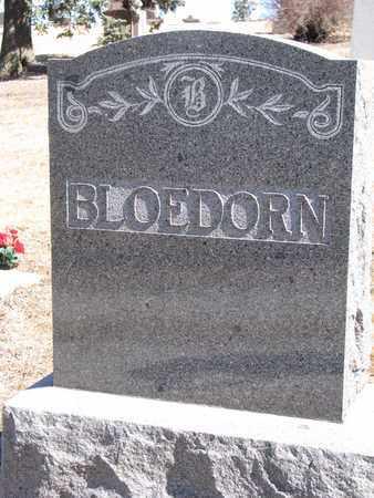 BLOEDORN, (FAMILY MONUMENT) - Cuming County, Nebraska   (FAMILY MONUMENT) BLOEDORN - Nebraska Gravestone Photos