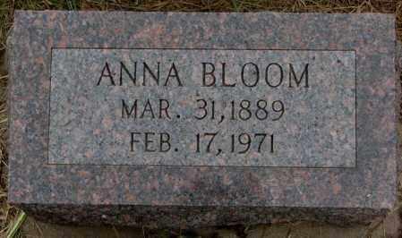 BLOOM, ANNA - Cuming County, Nebraska | ANNA BLOOM - Nebraska Gravestone Photos