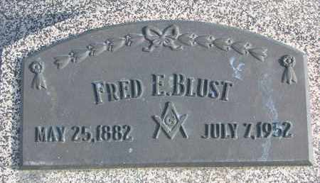 BLUST, FRED E. - Cuming County, Nebraska | FRED E. BLUST - Nebraska Gravestone Photos