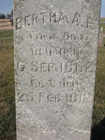 BOEK, BERTHA A.E. (CLOSEUP) - Cuming County, Nebraska   BERTHA A.E. (CLOSEUP) BOEK - Nebraska Gravestone Photos