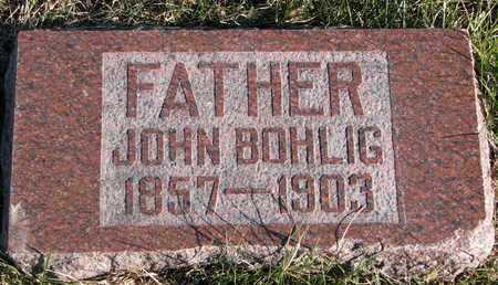 BOHLIG, JOHN - Cuming County, Nebraska | JOHN BOHLIG - Nebraska Gravestone Photos