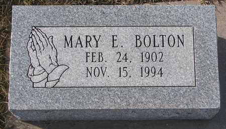 BOLTON, MARY E. - Cuming County, Nebraska   MARY E. BOLTON - Nebraska Gravestone Photos