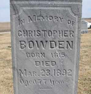 BOWDEN, CHRISTOPHER (CLOSEUP) - Cuming County, Nebraska   CHRISTOPHER (CLOSEUP) BOWDEN - Nebraska Gravestone Photos