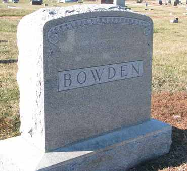 BOWDEN, FAMILY STONE - Cuming County, Nebraska   FAMILY STONE BOWDEN - Nebraska Gravestone Photos
