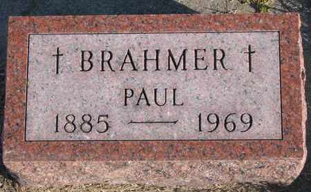 BRAHMER, PAUL - Cuming County, Nebraska | PAUL BRAHMER - Nebraska Gravestone Photos