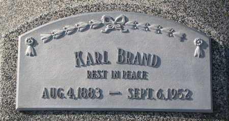 BRAND, KARL - Cuming County, Nebraska | KARL BRAND - Nebraska Gravestone Photos